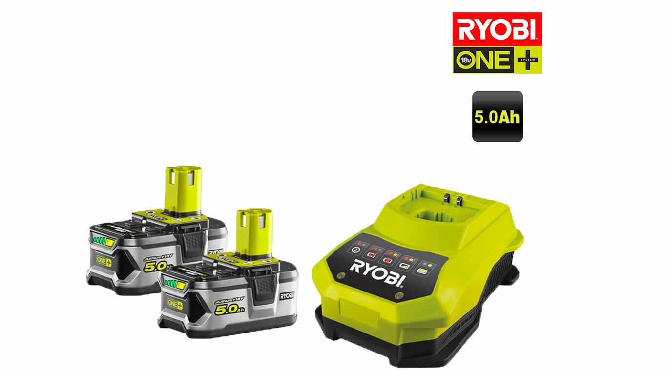 Pack Batterie Ryobi ONE + 18 V 5.0 Ah RBC18LL50