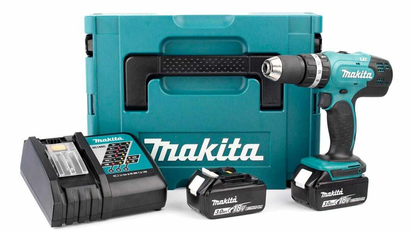 Makita DHP453RFJ Visseuse-Perceuse à Percussion avec 2 Batteries pas cher